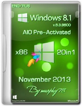 Windows 8.1 x86 AIO 20in1 Pre-Activated November 2013 (ENG/RUS)