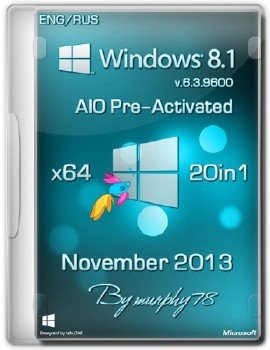 Windows 8.1 x64 AIO 20in1 Pre-Activated November 2013 (ENG/RUS)