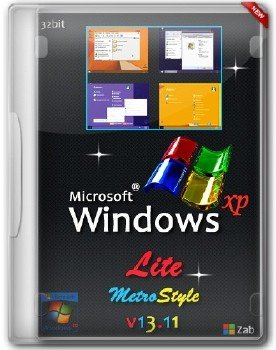Windows XP SP3 Lite MetroStyle v13.11 (2013/RUS)