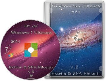 Windows 7 Ultimate SP1 by extrim (x64) (2014) [Rus]