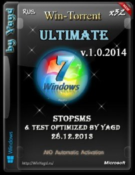 Windows 7 Ultimate StopSMS Test Optimized by Yagd (x32) v.1.0.2014 (Rus) [01.02.2014] AIO