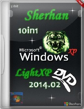 Windows XP SP3 x86 10in1 Sherhan LightXP 2014.02 RUS (2014)