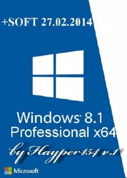 Windows 8.1 Professional v.6.3.9600 (x64) by Hayper154 v.1 (2014) Русский 6.3.9600 [Ru/En]