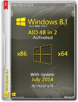 Windows 8.1 AIO 48in2 x86/x64 With Update July 2014