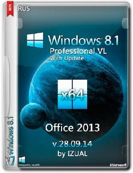Windows8.1 Professional vl With Update & Office2013 IZUAL v28.09.14