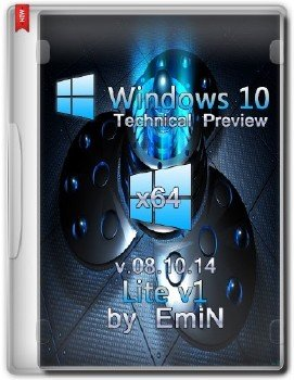 Windows 10 Technical Preview Lite v1 x64 by EmiN