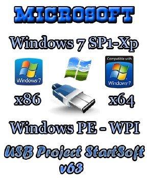 Windows 8. 1 7 sp1 chip xp x86 x64 plus pe startsoft 60-2014.