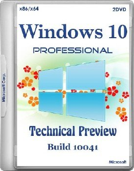 Windows 10 Professional Technical Preview Build 10041 x86/x64 2DVD RUS