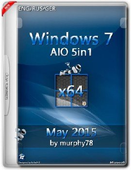 Windows 7 SP1 x64 AIO 5in1 May 2015 by murphy78 (ENG/RUS/GER)
