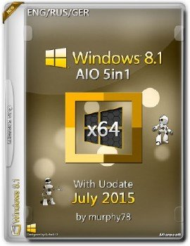 Windows 8.1 x64 AIO 5in1 With Update July 2015 by murphy78 (ENG/RUS/GER)