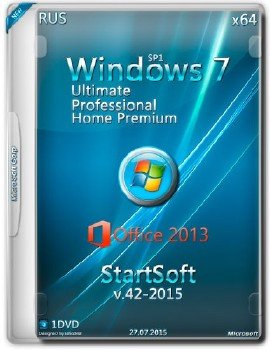Windows 7 SP1 x32 x64 Plus Office 2013 StartSoft 42-43 2015 [Ru]