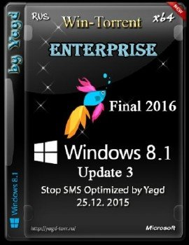 Windows 8.1 Enterprise Stop SMS Optimized by Yagd v.01.2016 (x64)