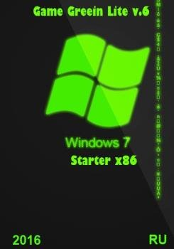 Windows 7 Starter sp1 Game Green Lite v.6 RUS