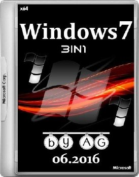 Windows 7 3in1 x64 by AG 06.2016 [Ru]