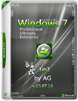 Windows 7 3in1 x64 by AG 15.07.16 [Ru]