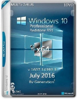Windows 10 Pro x64 v.14393 ESD July 2016 by Generation2