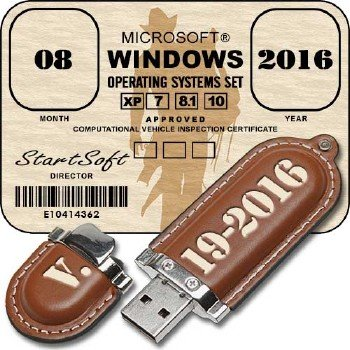 Windows Operating Systems Set ALL In One StartSoft 19-2016 [Ru]