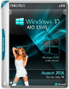 Windows 10 x64 AIO 15in1 Build 14393.67 August 2016 by Murphy78