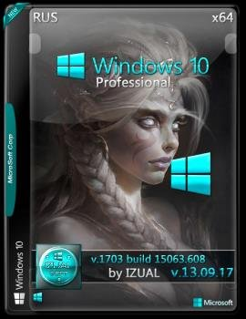 Windows 10 Professional 15063.608 v.1703 by IZUAL (x64)
