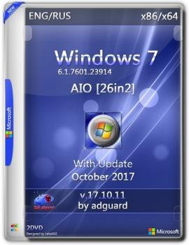 WINDOWS 7 SP1 WITH UPDATE [7601.23914] (X86-X64) AIO [26IN2] ADGUARD