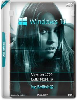 Windows 10 Light Pro RS-3 16299.19 (Ru-Ru) Bellish@ (x86)