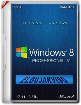 Windows 8 Pro x64 VL Elgujakviso Edition (v17.11.13) [Ru]