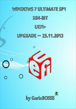 Windows 7 ULTIMATE SP1 x64-bit UEFI+ v.25.11.13