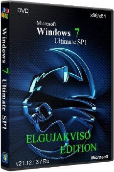 Windows 7 Ultimate SP1 x86/x64 Elgujakviso Edition (v21.12.13)