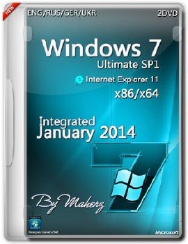 Windows 7 Ultimate SP1 x86x64 (2 DVD)Integrated January 2014 By Maherz (ENG+RUS+GER+UKR)