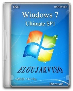 Windows 7 Ultimate SP1 Elgujakviso Edition v26.01.14 (x64) (2014) [Rus]