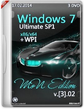 Windows 7 SP1 Ultimate x86+x64 MoN Edition [3].02 [Русский]