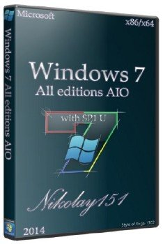 Windows 7 with SP1 All editions AIO Nikolay151 [RU]