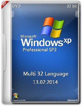 Windows XP Professional SP3 x86 Multi 32 Language (DVD/13.02.2014)