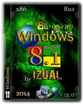 Windows 8.1 Profesioonal IZUAL Maximum 12.07.2014 х32 + Office 2013
