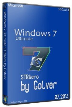 Windows 7 Ultimate x86/x64 STRAero by Golver 07.2014 (2014/RUS)
