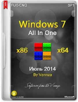 Windows 7 SP1 x86-x64 AIO by Vannza [Ru/En]