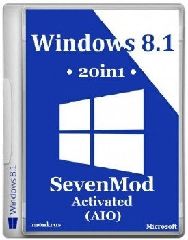 Windows 8.1 SevenMod RUS-ENG x86-x64 -20in1- Activated (AIO)