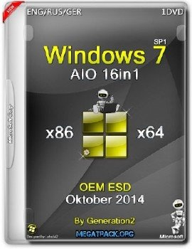 Windows 7 SP1 x86/x64 AIO 16in1 OEM ESD Oktober 2014 by Generation2