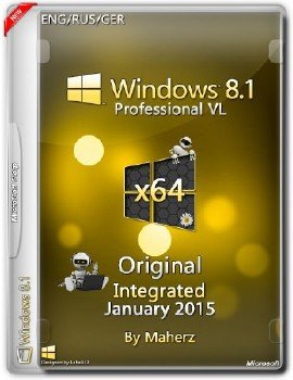 Windows 8.1 Professional VL x64 Integrated January 2015 By Maherz (ENG/RUS/GER)