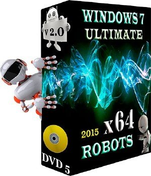 Windows 7 Ultimate SP1 by novik v.ROBOTS x64 v.2.0