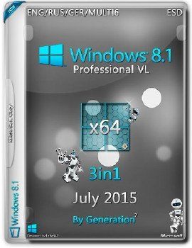 Windows 8.1 Pro VL x64 3in1 ESD July 2015 by Generation2