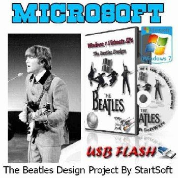 Windows 7 Ultimate SP1 x86 x64 The Beatles Design StartSoft 76-2015 [Ru]