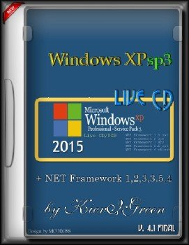 Windows XPsp3 Live CD + NET Framework 1,2,3,3.5,4 версия 4.1 final