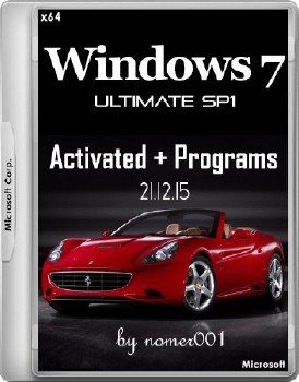 Windows 7 Ultimate SP1 x64 Activated + Programs by nomer001 21.12.15