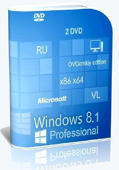Windows 8.1 Professional VL with Update 3 x86-x64 Ru by OVGorskiy® 02.2016 2DVD