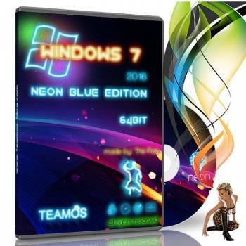 Windows 7 Neon Blue Edition 2015 X64 by TeamOS