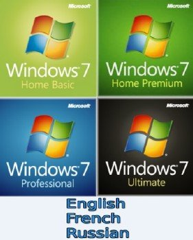 Windows 7 SP1 English, French, Russian, 12in1 (x64) + WSI 10.06.2016