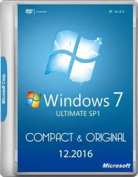 Windows 7 Ultimate SP1 Compact & Original by -A.L.E.X.- 12.2016