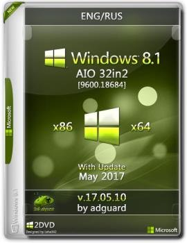 Windows 8.1 with Update [9600.18684] (x86-x64) AIO [32in2]