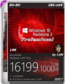 Windows 10 Pro 16199.1000 rs3 x86-x64 RU-RU LIM